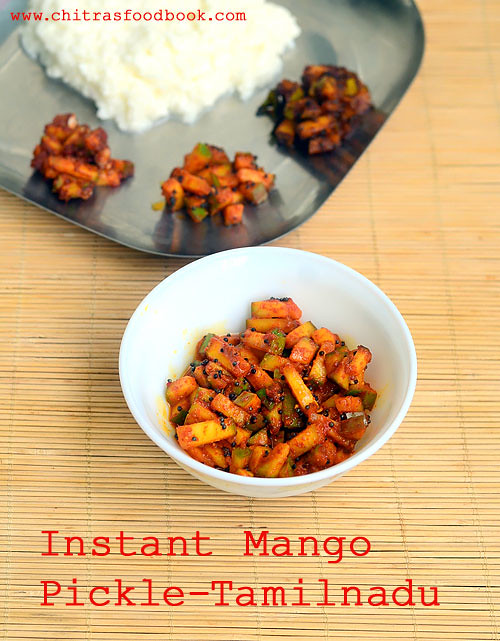 Instant mango pickle recipe - Tamil nadu