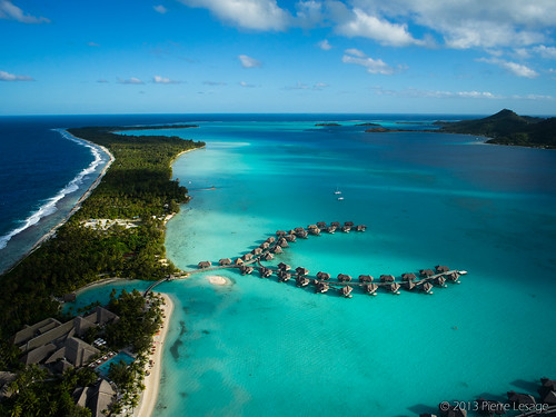 InterContinental Bora Bora Resort & Thalasso Spa seen from a kite | by Pierre Lesage