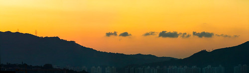 靜夏 Quiet summer / 香港日落全景之寧 Hong Kong Sunset Panoramic Serenity / SML.20130704.7D.43437-SML.20130704.7D.43449-Pano.i13.12x4 | by See-ming Lee (SML)