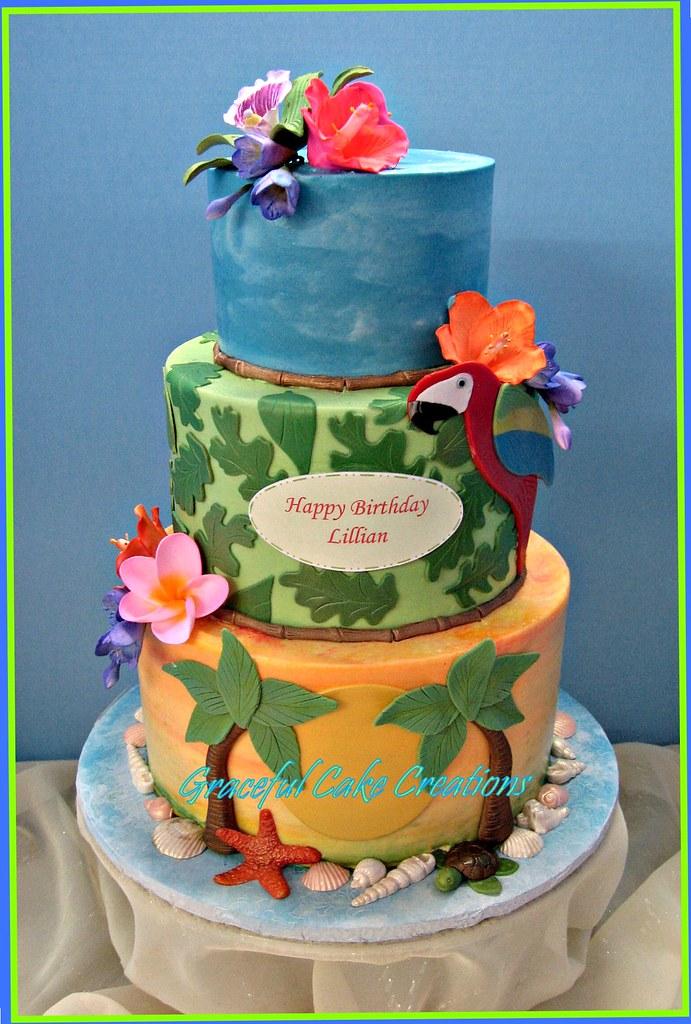 Tropical Hawaiian Birthday Cake Grace Tari Flickr