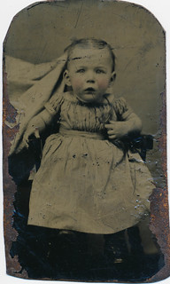 """Hidden mother"" tin type baby portrait 