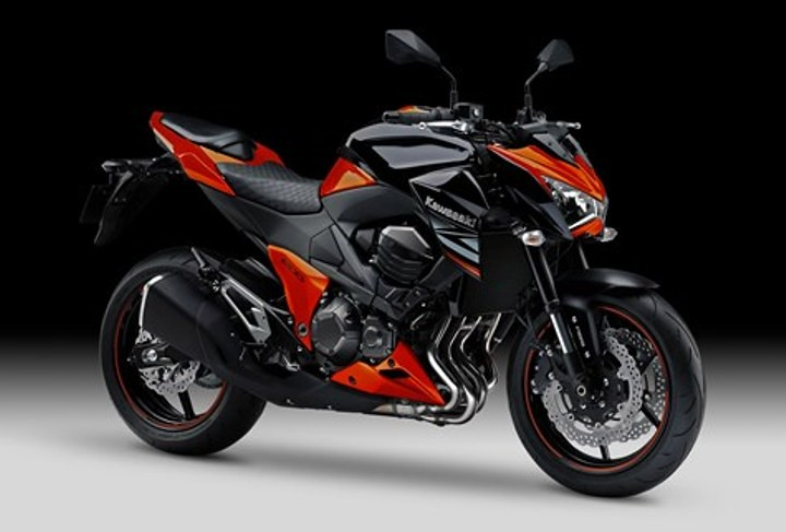 2014 Kawasaki Z800 Candy Burnt Orange And Spark Black