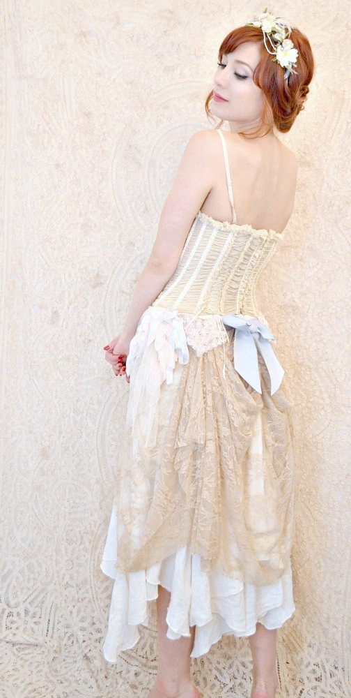 Bohemian wedding dress, upcycled lace dress, whimsical for ...