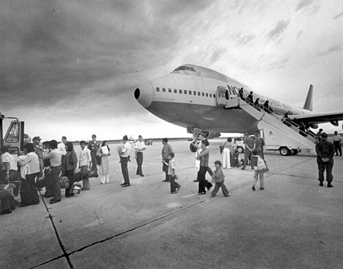 Arrival of South Vietnamese refugees. Eglin Air Force Base, Florida. May 1975 | by manhhai