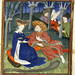 Collected Works of Christine de Pisan - caption: 'Duke and ladies in a garden'