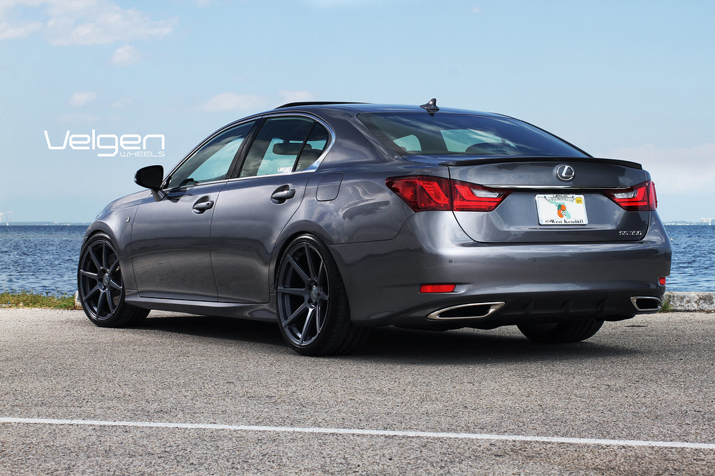 Lexus Gs350 F Sport On Velgen Wheels Vmb8 Matte Gunmetal