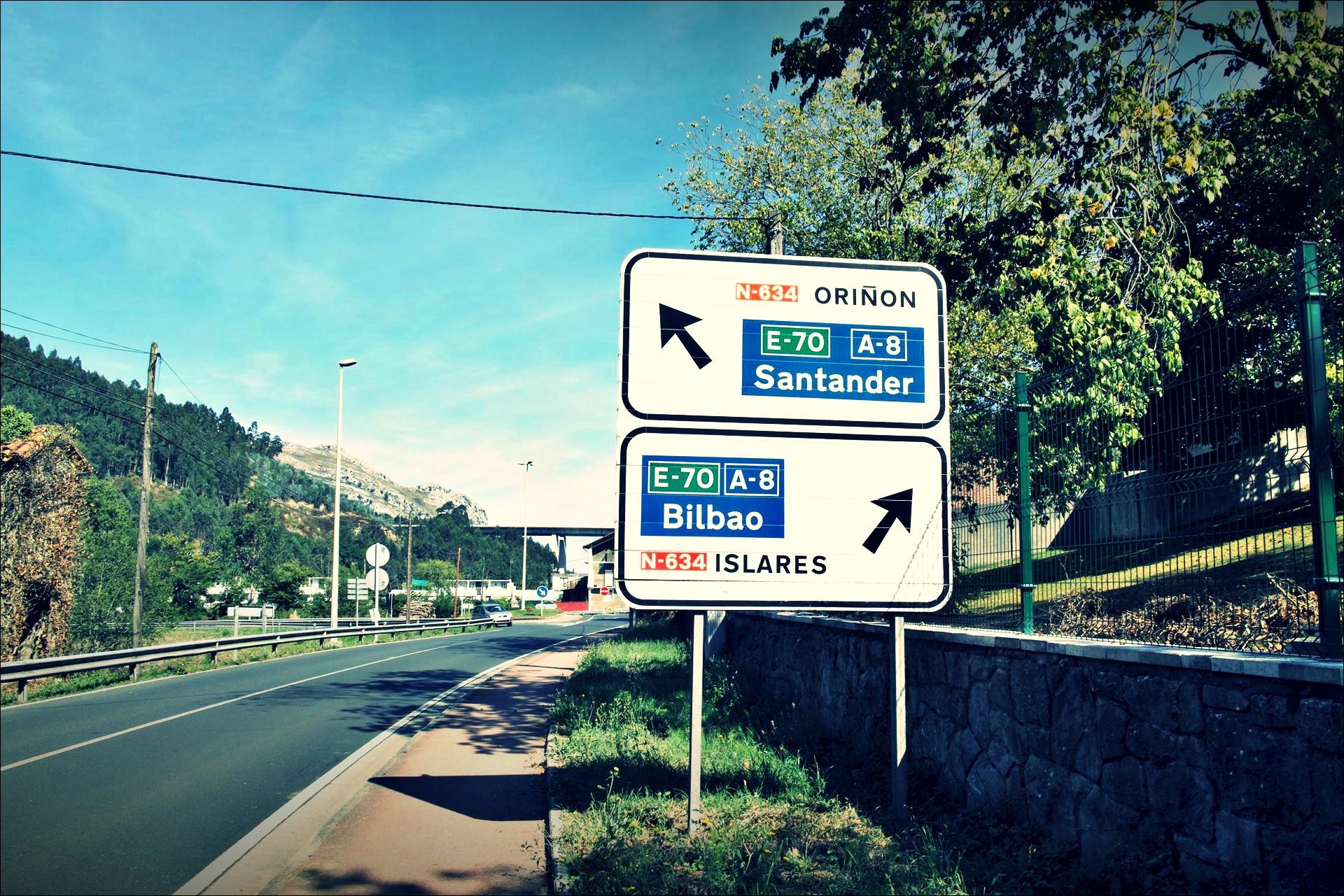 이정표 산탄데르, 빌바오-'카미노 데 산티아고 북쪽길. 카스트로 우르디알레스에서 리엔도. (Camino del Norte - Castro Urdiales to Liendo) '