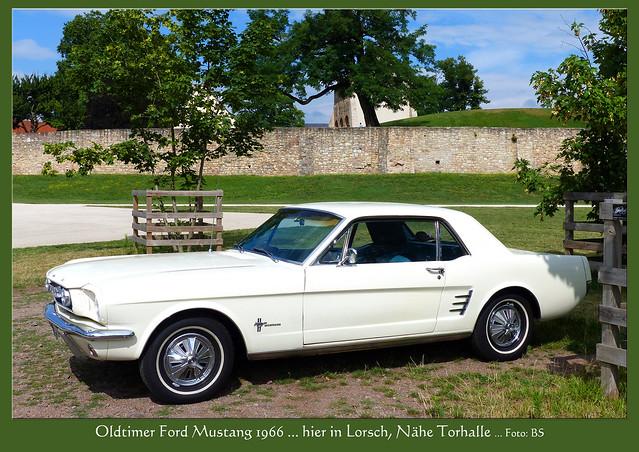 Vor der Motor-Restaurierung unseres Oldtimers Ford Mustang 1966 - Parkplatz Nähe Torhalle in Lorsch ... Foto: Brigitte Stolle, Mannheim