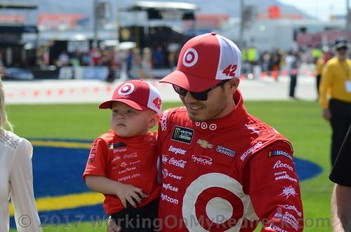 Kyle Larson and Owen Larson