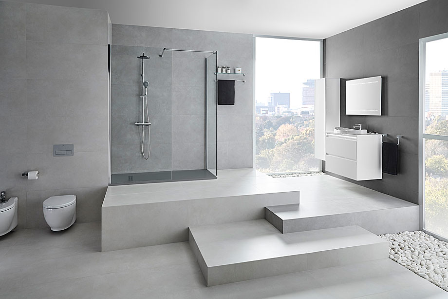 Elegant glass shower Walk-in N by Burgos-based Cerámicas Gala Sundeno_06