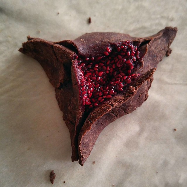 Chocolate Raspberry Hamentashen