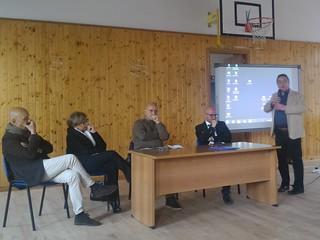 Da sinistra il dott. Infantino, la dott.ssa Ferri, il Sindaco Cessa, il dott. Tafuri e Gianluca Zaccheo