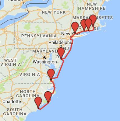 2016 NC to RI - 813 miles