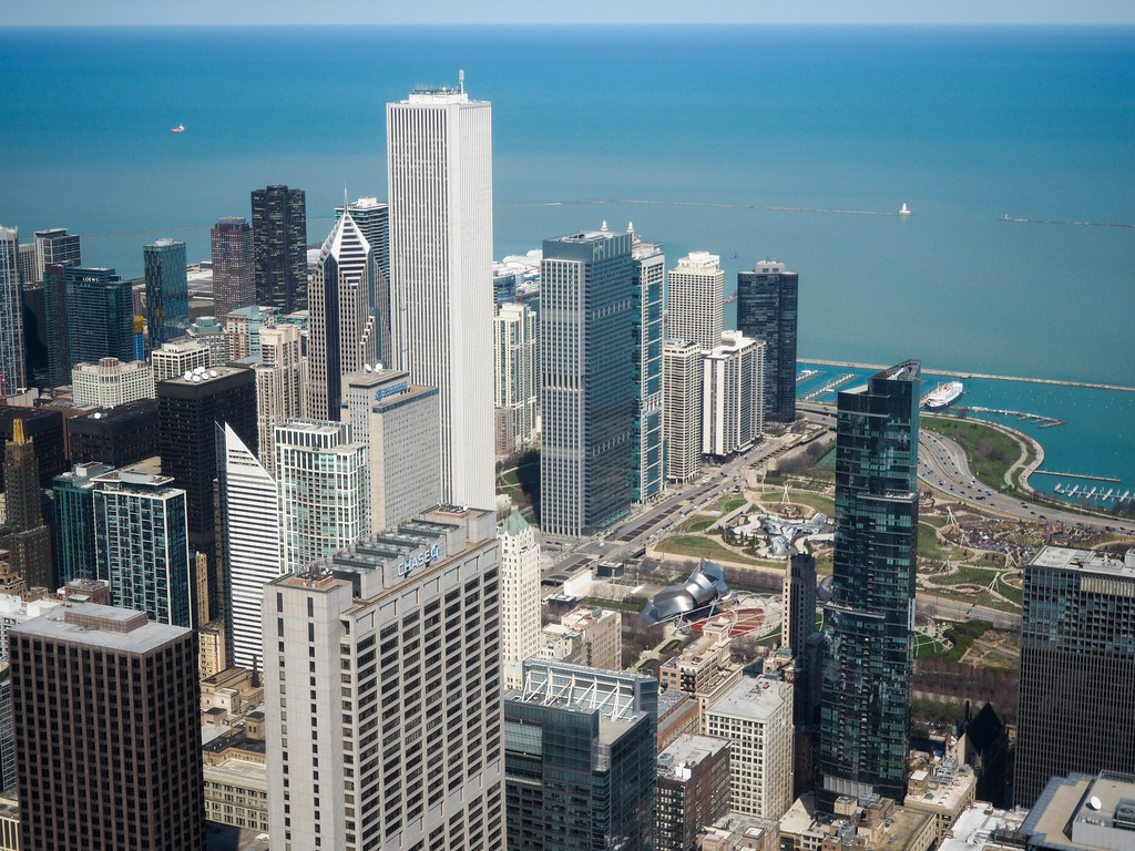 View from the Skydeck in Chicago