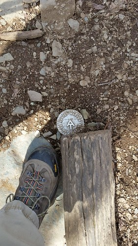 Appalachian Trail survey marker