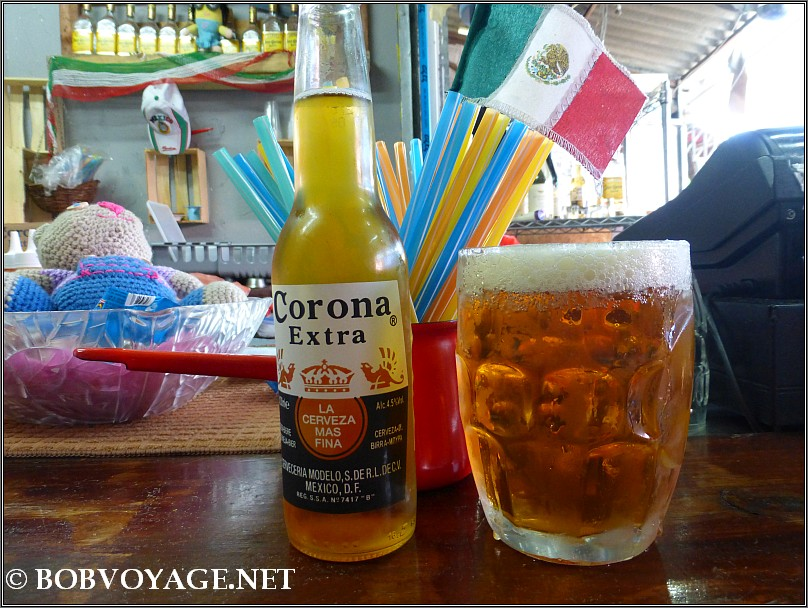 קורונה וחצי ליטר בירה קרלסברג ב- Viva Mexico