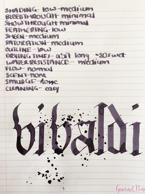 Ink Shot Review Diamine Music Vivaldi @AppelboomLaren 5