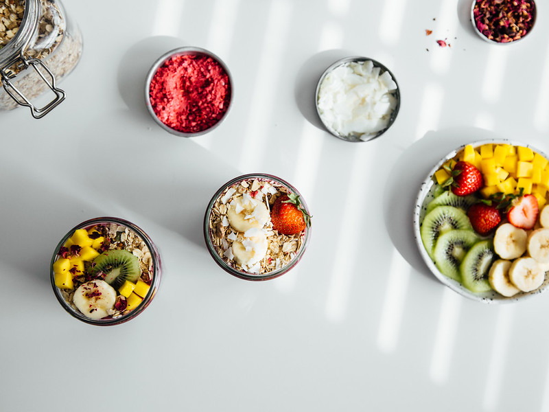 Chia + protein smoothie parfaits