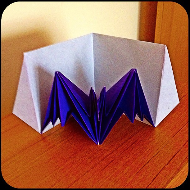 pop up bat card by jeremy shafer folded by me from a singl