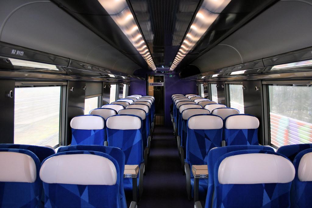 Fyra V250 second class interior | Interior of a second class… | Flickr