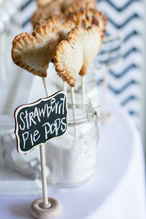Sweet heart shaped pie pops at Unveiled! | by Sweet Lauren Cakes
