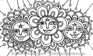 """Sun Face Flowers"" ICAD : 6-9-13 