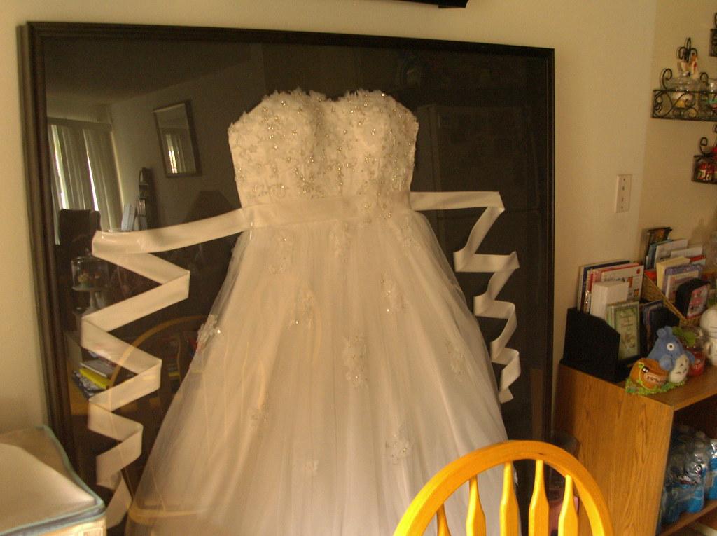 my wedding dress framed by princess ema irene