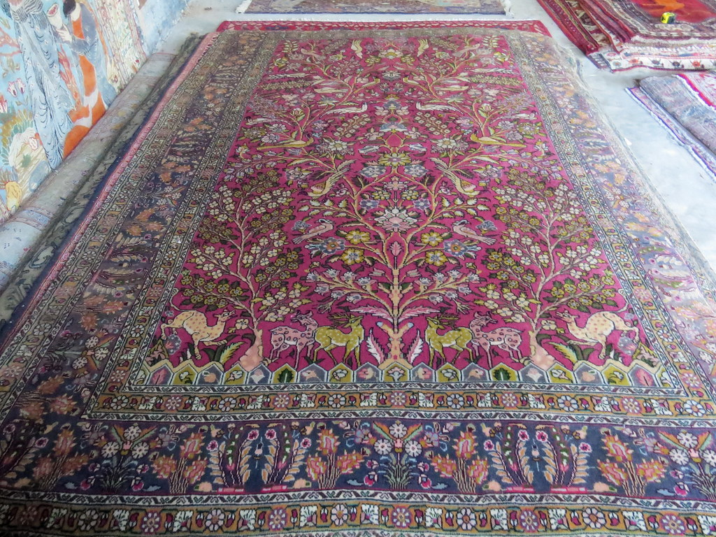 Tabriz Tree Of Life Deer Persian Rug Carpetbeggers 513