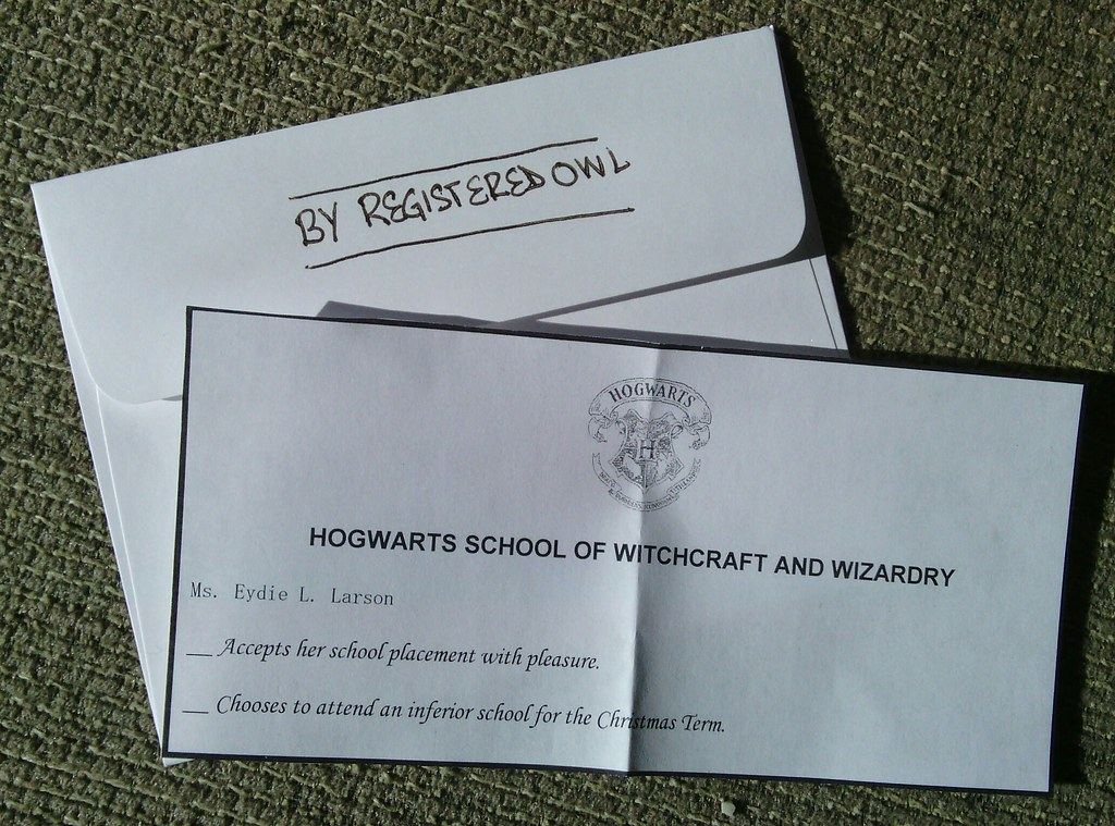 RSVP card included in my invite to my Harry Potter Christm… | Flickr