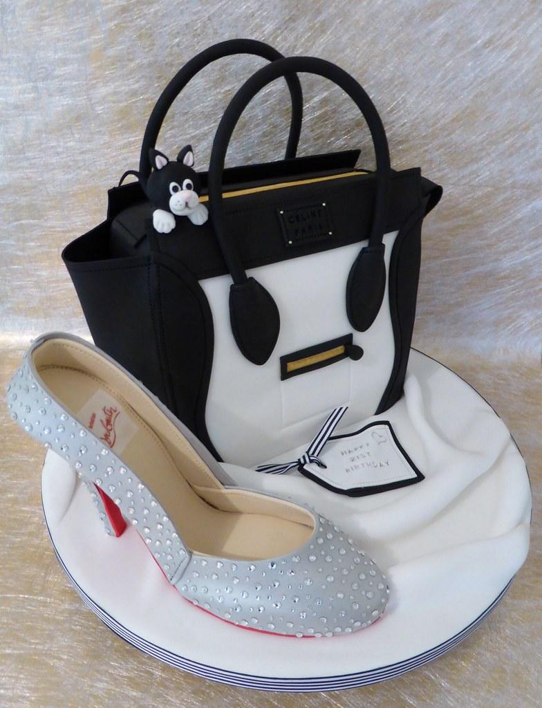 Designer Shoe & Handbag cake 21st birthday cake with the ...