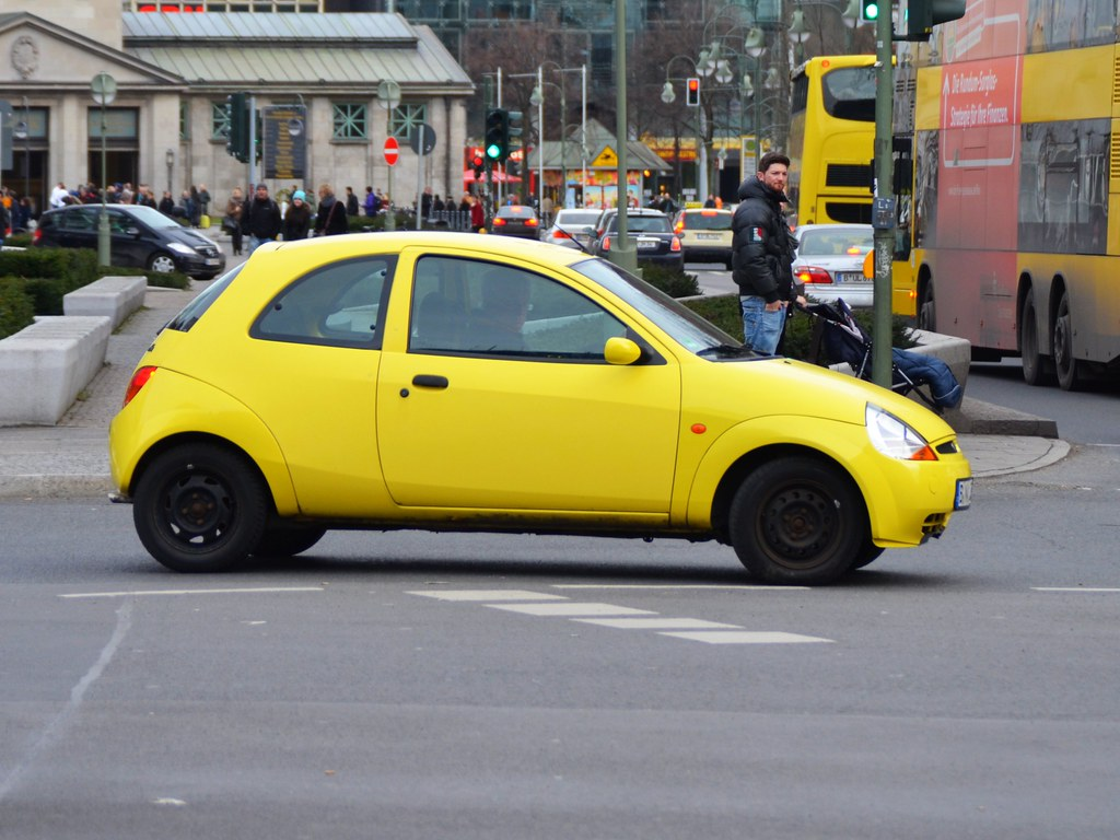 Yellow Ford Ka Cropped By Transaxle Alias Toprope