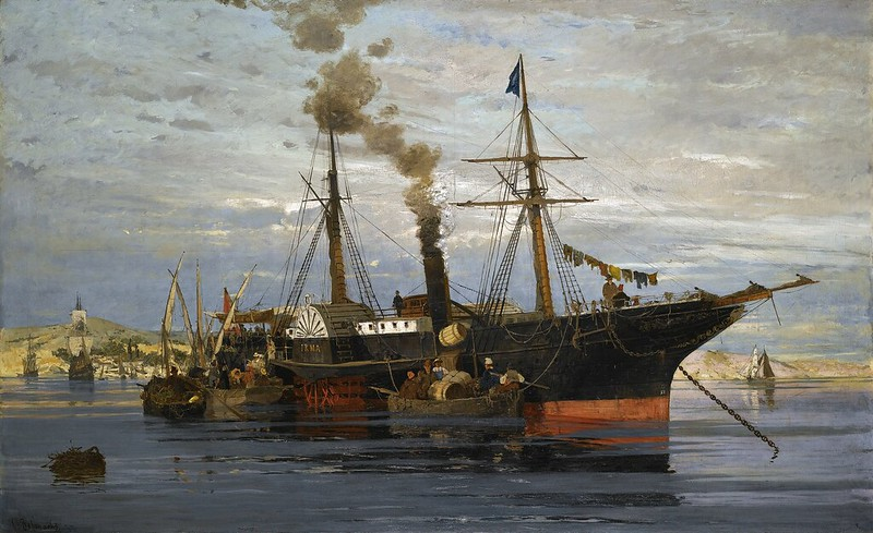 Konstantinos Volanakis - The departure (1877)