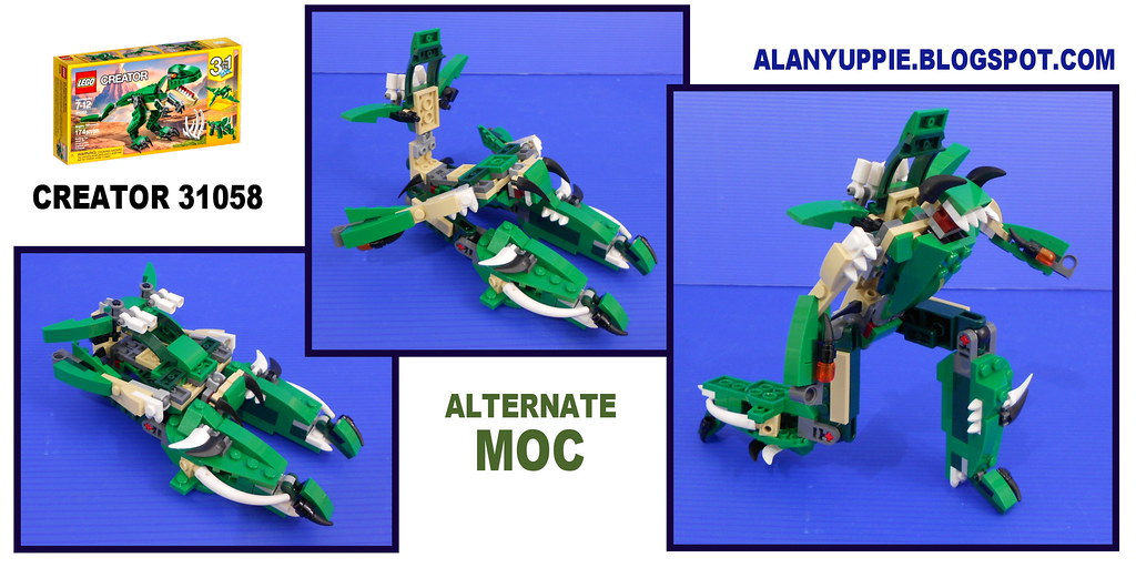 Lego Creator 31058 Alternate Moc This Articulated Lego Tra Flickr