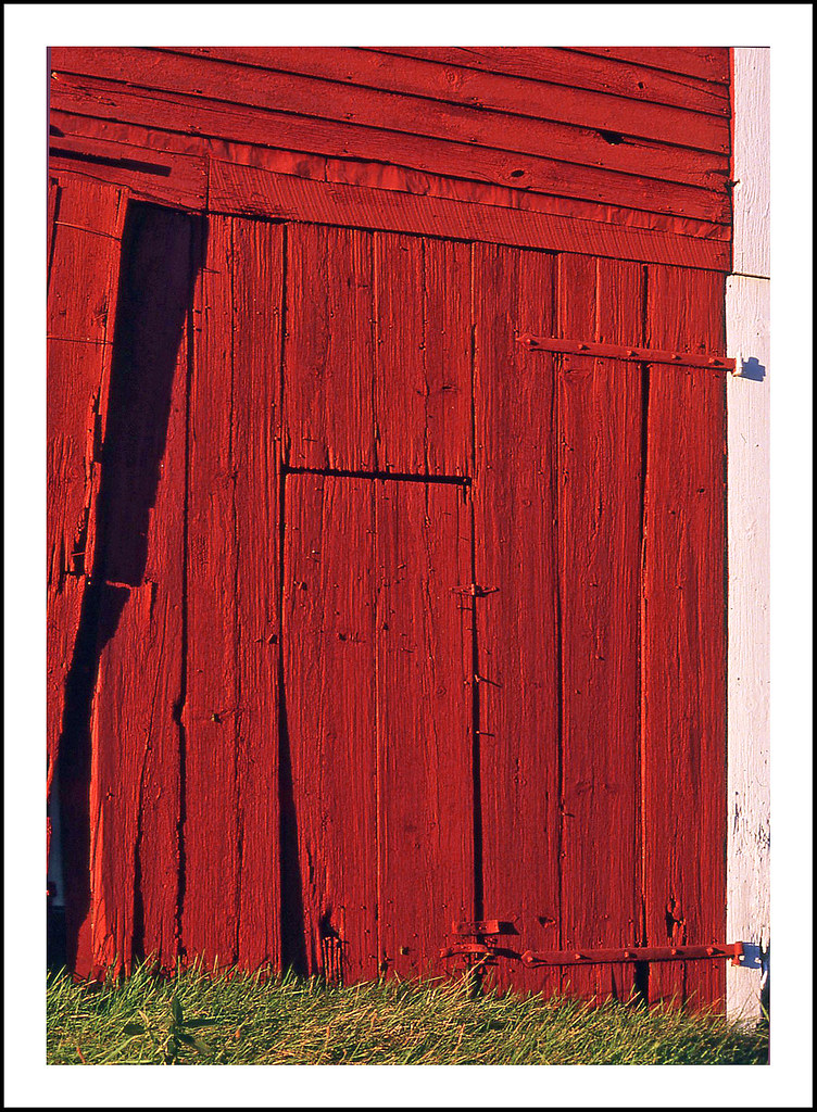 Old Red Barn Door Within A Door Spotted On A Picturesque Flickr