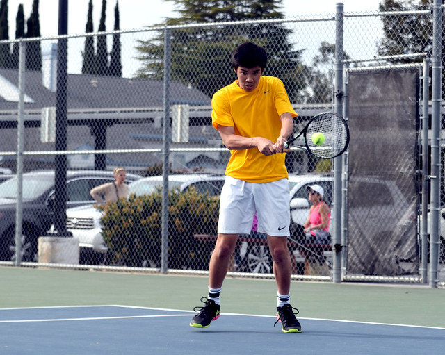 Boys tennis: MVHS vs. Menlo-Atherton, Los Gatos