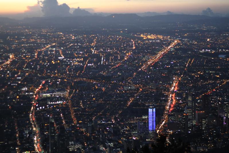 Bogotà. Sunset