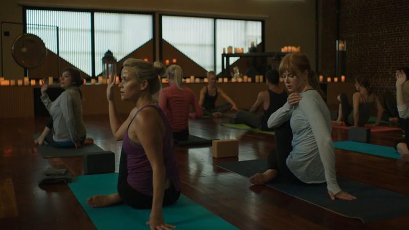 Yoga studio scene