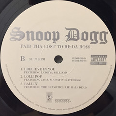 SNOOP DOGG:PUT THA COST TO BE DA BO$$(LABEL SIDE-B)
