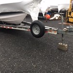 2005 Road King Boat Trailer - 26-29-ft boat - tri-axle - 10,700LB Max12,900lb GVWR New Tires brakes Brake lines Bearings..... Aluminum Step Plates (4)  Disc Brakes - Per Axle  Fenders - Chrome (Tri-Axle)  Spare Tire and Carrier  Surge Brakes  Tires (Tri-A