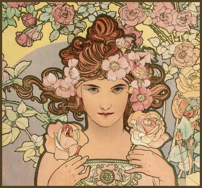 Rose Art Deco Wedding Cake