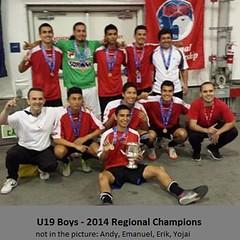 DV Diablos U19 Boys champion Regionals 2014