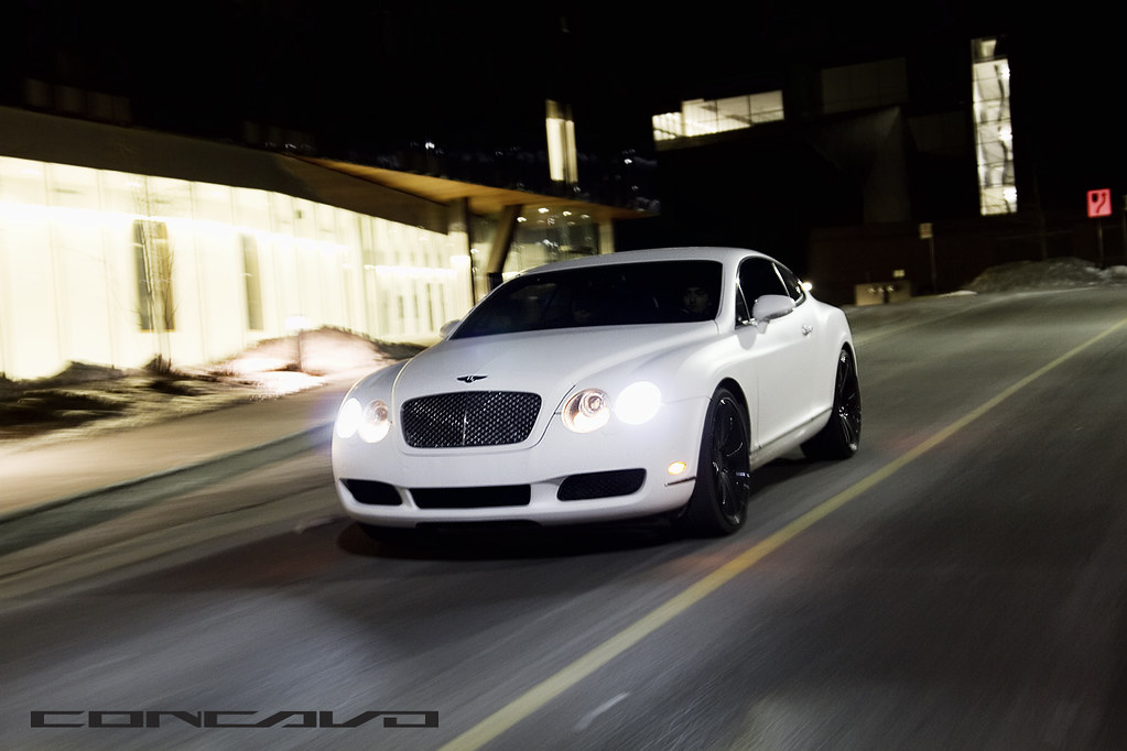 Matte White Bentley Continental Gt On Cw 5 Gloss Black