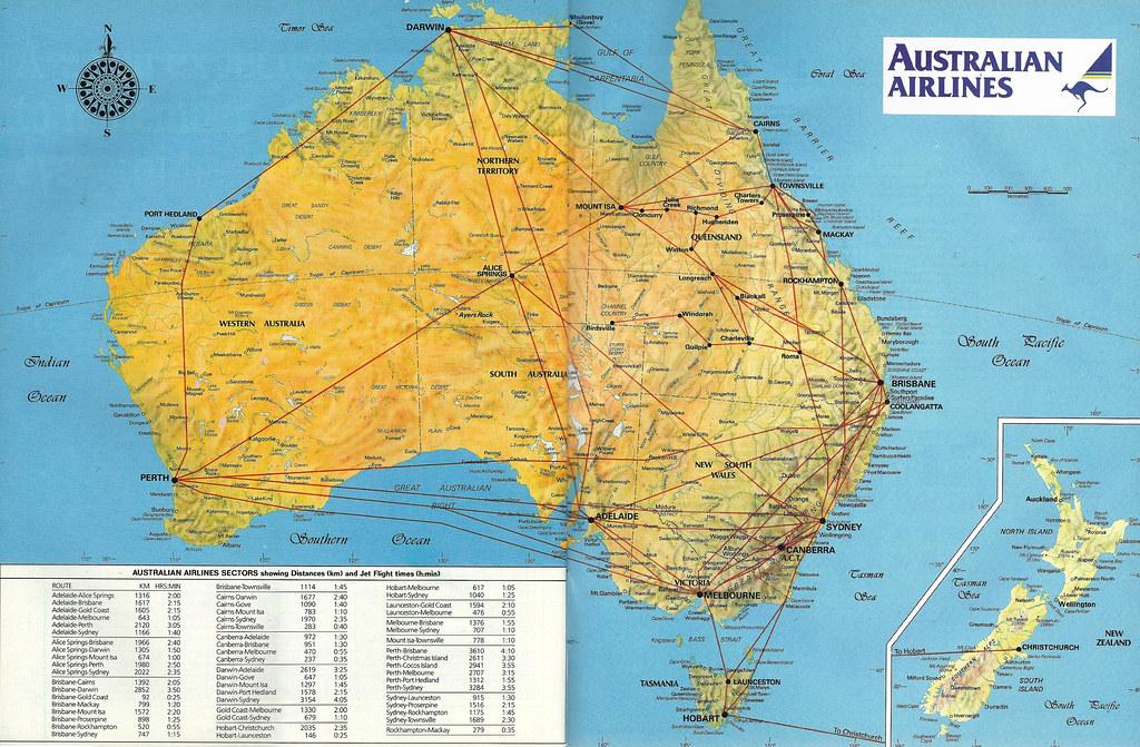Australian airlines route map 1986 australian airlines ro flickr australian airlines route map 1986 by airbus777 sciox Images