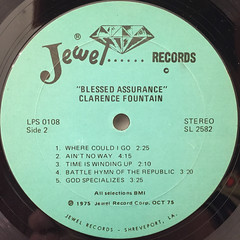 CLARENCE FOUNTAIN:BLESSED ASSURANCE(LABEL SIDE-B)