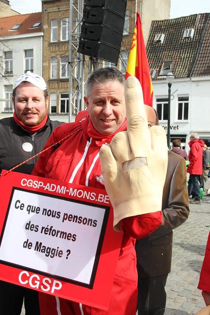 Non-marchand en colère à Bruxelles 21 mars 2017