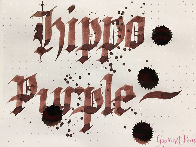 Ink Shot Review @RobertOsterInk Hippo Purple 9