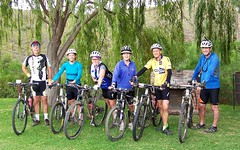 The cyclists at Eagle Falls