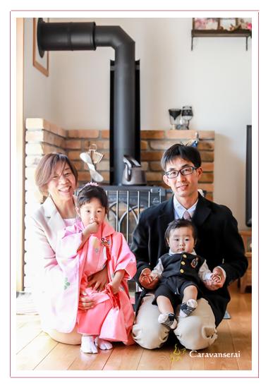 岐阜県美濃市 七五三まいり お宮まいり 自宅へ出張撮影 家族写真 ロケーション撮影 おすすめ 人気 データ納品