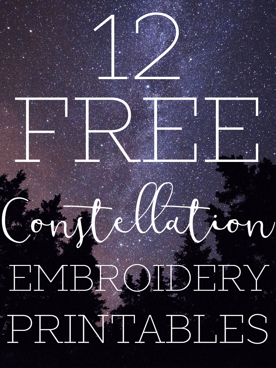 picture about Printable Embroidery Patterns called Constellation Embroidery Habits - Tastefully Eclectic
