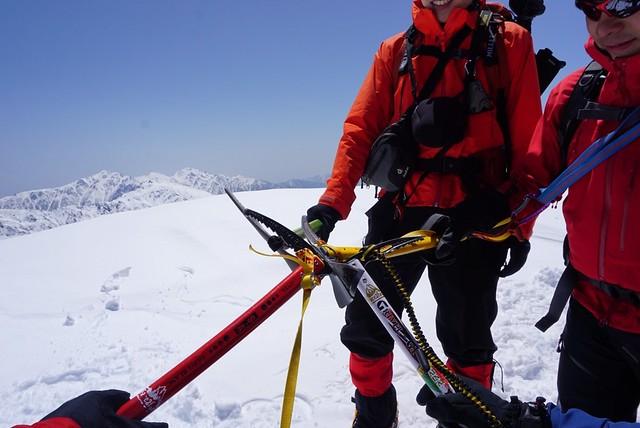 三ノ沢岳登頂完了